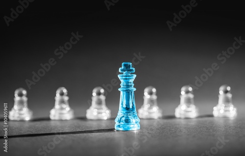 Poster Chess business concept.