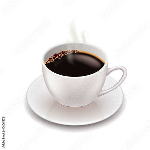 Foto op Canvas Koffie Coffee cup isolated on white vector