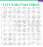 Fototapety thin line icons exclusive XXL icons set for infographics or mobile UX/UI kit