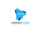 Video Chat Logo Design Template - 104075864