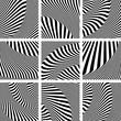 Op art patterns set.