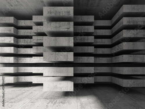 Zdjęcia na płótnie, fototapety na wymiar, obrazy na ścianę :  Modern concrete 3d architecture background