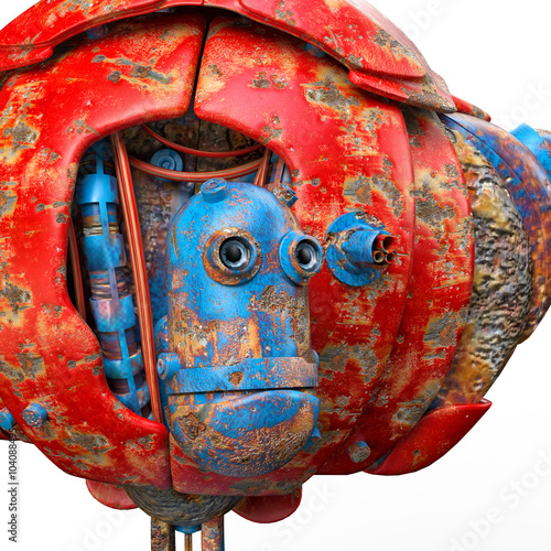 Foto op Canvas very old robot stop