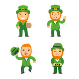 Saint Patricks Day leprechauns