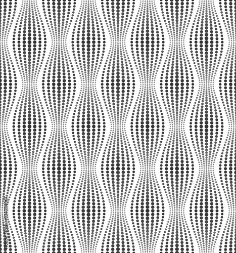 Vector seamless texture. Modern abstract background. Geometric patterns of dots.