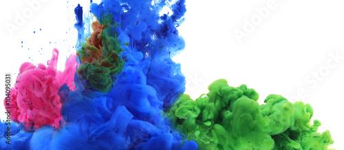 Fotobehang Kleuren in het water Colors and ink in water. Abstract background.