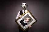Hundemensch / Human dog / Dalmatiner im Anzug