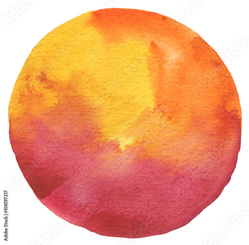 Plexiglas Geschilderde Achtergrond Circle watercolor painted background.