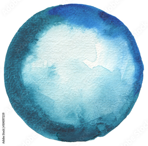 Fotobehang Geschilderde Achtergrond Circle watercolor painted background.