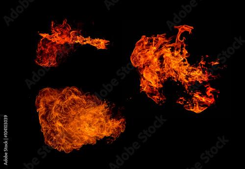In de dag Vuur / Vlam Fire on black