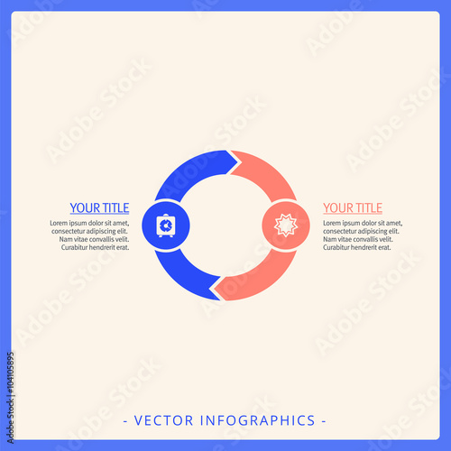 two part cycle diagram template