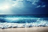 Fototapety waves at Seychelles beach