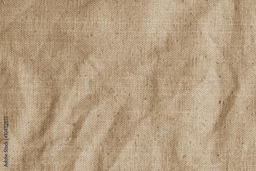 Stare płótno, konopie, wory. Vintage beżowy tkanina tekstura.