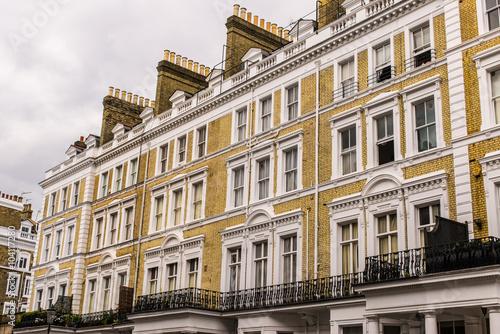 Poster Facade of an opulent  British Victorian Edwardian terraced flat