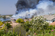 Brush Fires In A Residential Area In California