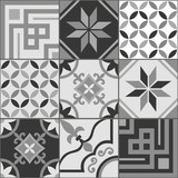 Fototapety Grey Tile Seamless Pattern