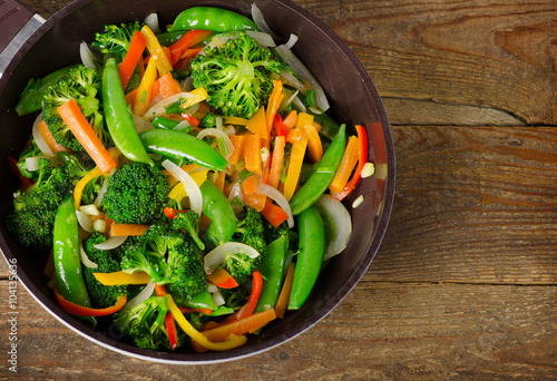 Poster Vegetable stir fry.