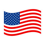 American flag vector icon - 104146837