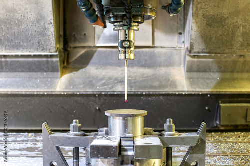 Poster Industrial metal chuck die/mold sensoring. Metalworking and mech