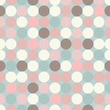 Seamless vector decorative background with circles, buttons and polka dots. Print. Cloth design, wallpaper.
