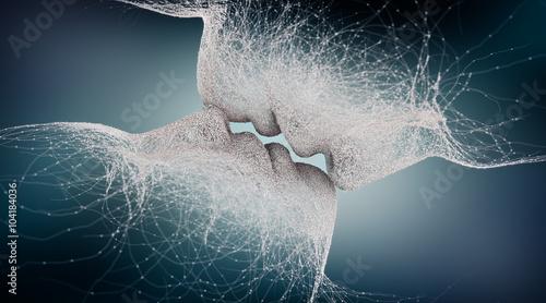 abstract kiss