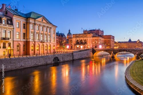 Aluminium Stockholm Stockholm at dawn