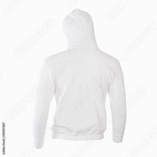 Felpa bianca con cappuccio retro