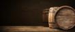 Leinwanddruck Bild - background of barrel
