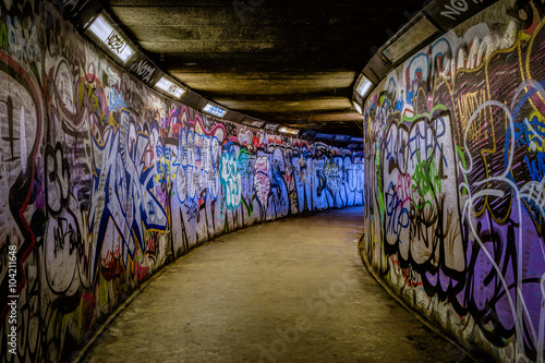 Foto Spatwand Graffiti Subway Graffiti
