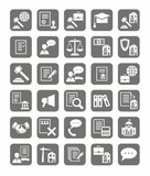 Legal services, the icons, monochrome.