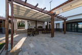 Beautiful terrace lounge with pergola