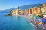 Sand beach in Camogli by Genoa, Italy - Fine Art prints