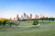 Houston downtown at  sunrise