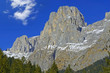 Canali mountain from the valley Canali, Dolomite mountains