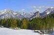 Panorama of Cereda Pass, Dolomite mountains, Italy