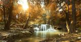 Piękny wodospad w tropikalnym lesie