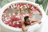 Fototapety Spa bathing with flowers