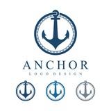 Circle Anchor Vector Logo Design