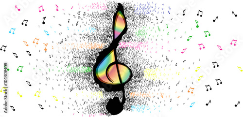 musical notes, fantasy