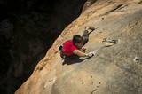 Dani Robles climbing hard in Alquézar