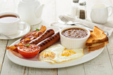 Fototapety Full english breakfast with egg and bacon