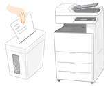 シュレッダー、コピー機