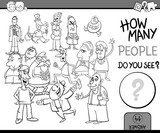 count people task coloring book