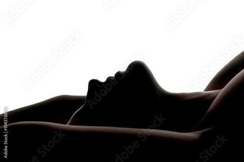 sensual portrait of a woman. profile silhouette Poster