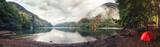 Fototapety Ritsa lake tent camping