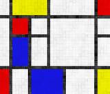 Fliesenwand im Mondrian Stil