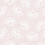 White seamless flower lace pattern on pink background