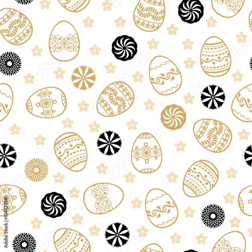 Materiał do szycia Easter golden pattern seamless