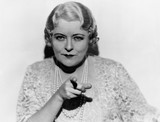 Portrait of mature woman pointing finger  - 104436878