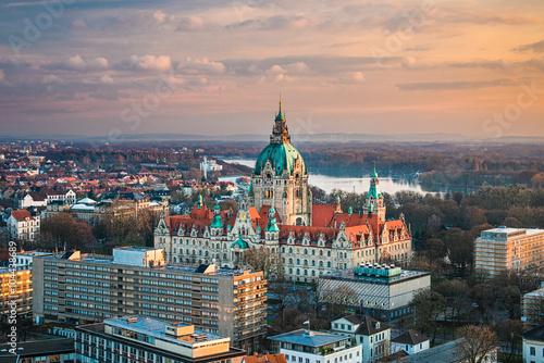 Rathaus in Hannover, Deutschland Poster